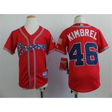 MLB Atlanta Braves 46 Craig Kimbrel 2014 Red Youth Jersey