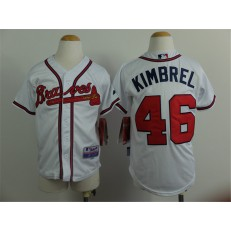 MLB Atlanta Braves 46 Craig Kimbrel White Youth Jersey