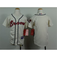 MLB Atlanta Braves Blank Cream Youth Jersey