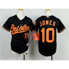 MLB Baltimore Orioles 10 Adam Jones Black Cool Base Baseball Youth Jersey
