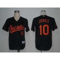 MLB Baltimore Orioles 10 Adam Jones Black Youth Jersey