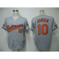 MLB Baltimore Orioles 10 Adam Jones Grey Youth Jersey