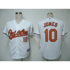 MLB Baltimore Orioles 10 Adam Jones White 2011 Cool Base Youth Jersey