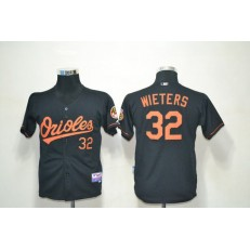 MLB Baltimore Orioles 32 Matt Wieters Black Cool Base Youth Jersey
