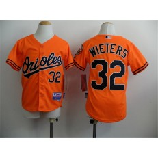 MLB Baltimore Orioles 32 Matt Wieters Orange Cool Base Stitched Baseball Youth Jersey