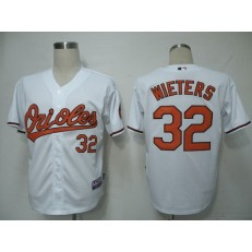MLB Baltimore Orioles 32 Matt Wieters White Youth Jersey