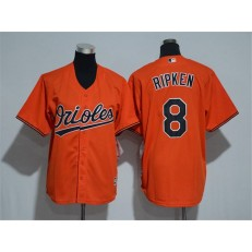 MLB Baltimore Orioles 8 Cal Ripken Orange Cool Base Stitched Youth Jersey