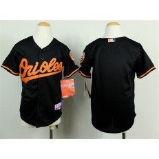 MLB Baltimore Orioles Blank Black Cool Base Baseball Youth Jersey