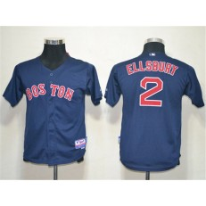 MLB Boston Red Sox 2 Jacoby Ellsbury Dark Blue Cool Base Youth Jersey