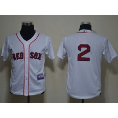 MLB Boston Red Sox 2 Jacoby Ellsbury White Cool Base Youth Jersey