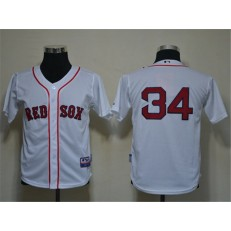 MLB Boston Red Sox 34 David Ortiz White Cool Base Youth Jersey