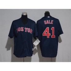MLB Boston Red Sox 41 Chris Sale Navy Blue Stitched Majestic Cool Base Youth Jersey