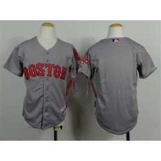MLB Boston Red Sox Blank 2014 Gray Youth Jersey