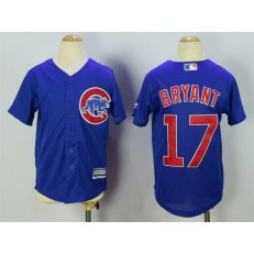MLB Chicago Cubs 17 Kris Bryant Alternate Blue 2015 Cool Base Youth Jersey