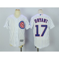 MLB Chicago Cubs 17 Kris Bryant Home White 2015 Cool Base Youth Jersey