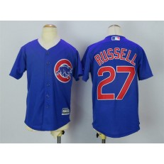 MLB Chicago Cubs 27 Addison Russell Alternate Blue 2015 Cool Base Youth Jersey