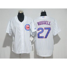 MLB Chicago Cubs 27 Addison Russell White Home New Cool Base Baseball Youth Jersey