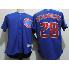 MLB Chicago Cubs 28 Kyle Hendricks Alternate Blue 2015 Cool Base Youth Jersey