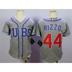 MLB Chicago Cubs 44 Anthony Rizzo 2014 Gray Youth Jersey