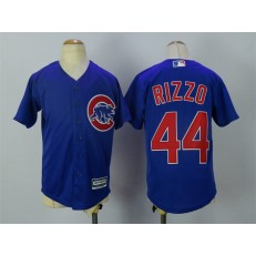 MLB Chicago Cubs 44 Anthony Rizzo Alternate Blue 2015 Cool Base Youth Jersey