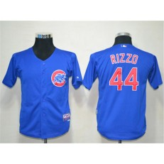MLB Chicago Cubs 44 Anthony Rizzo Blue Cool Base Youth Jersey