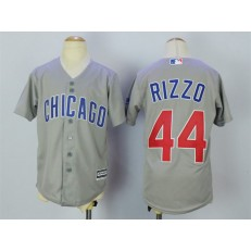 MLB Chicago Cubs 44 Anthony Rizzo Grey Cool Base Youth Jersey