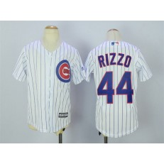 MLB Chicago Cubs 44 Anthony Rizzo Home White 2015 Cool Base Youth Jersey