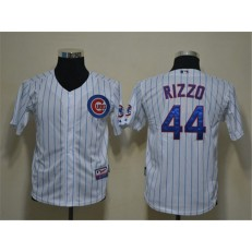 MLB Chicago Cubs 44 Anthony Rizzo White Cool Base Youth Jersey