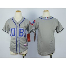 MLB Chicago Cubs Blank 2014 Gray Youth Jersey