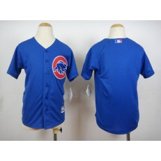 MLB Chicago Cubs Blank Alternate Blue 2015 Cool Base Youth Jersey