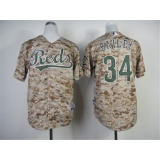 MLB Cincinnati Reds 34 Homer Bailey 2014 Camo Youth Jersey