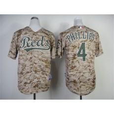 MLB Cincinnati Reds 4 Brandon Phillips 2014 Camo Youth Jersey