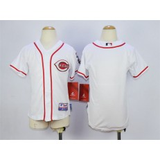 MLB Cincinnati Reds Blank White Youth Jersey