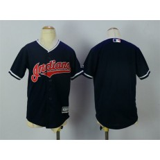 MLB Cleveland Indians Blank Navy Blue Alternate Stitched Youth Jersey