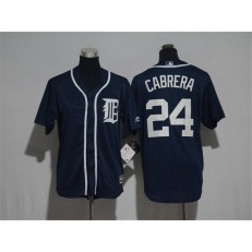 MLB Detroit Tigers 24 Miguel Cabrera Navy Blue Cool Base Stitched Youth Jersey