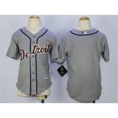 MLB Detroit Tigers Blank Grey Cool Base Youth Jersey