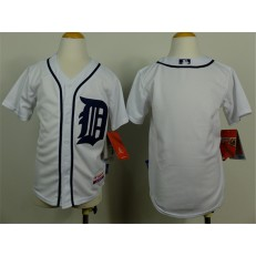MLB Detroit Tigers Blank White Youth Jersey