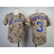 MLB New York Mets 3 Curtis Granderson 2014 Camo Youth Jersey