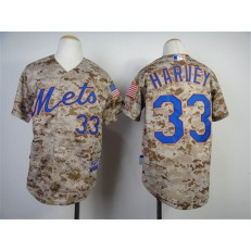 MLB New York Mets 33 Matt Harvey 2014 Camo Youth Jersey