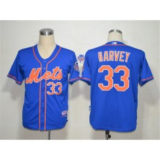 MLB New York Mets 33 Matt Harvey Blue Cool Base Youth Jersey
