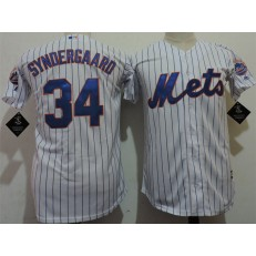 MLB New York Mets 34 Noah Syndergaard White Cool Base Youth Jersey