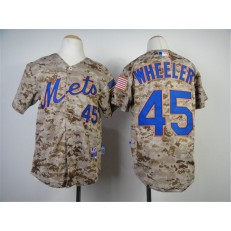 MLB New York Mets 45 Zack Wheeler 2014 Camo Youth Jersey