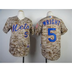 MLB New York Mets 5 David Wright 2014 Camo Youth Jersey