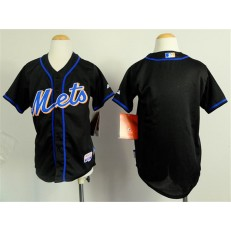 MLB New York Mets Blank Black Youth Jersey