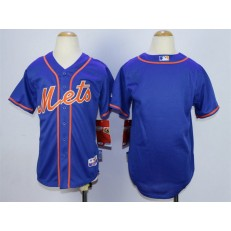MLB New York Mets Blank Blue Youth Jersey