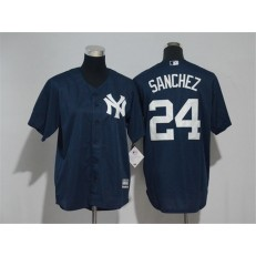 MLB New York Yankees 24 Gary Sanchez New Cool Base Navy Blue Youth Jersey