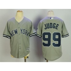 MLB New York Yankees 99 Aaron Judge Grey Cool Base Stitched Youth Jersey