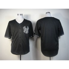 MLB New York Yankees Blank Black Youth Jersey