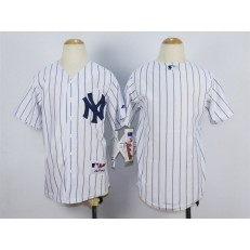 MLB New York Yankees Blank White Youth Jersey