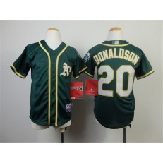 MLB Oakland Athletics 20 Josh Donaldson 2014 Green Youth Jersey